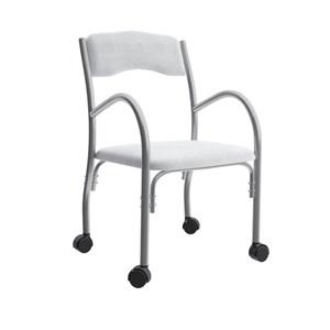 Cadeira Tubular Com Rodizios Stela 170 Branco Bona Vita