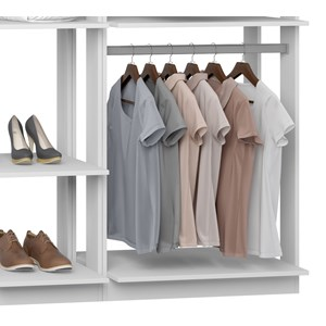 Closet 02 Cabideiros Clothes 9005 Branco Be Mobiliario