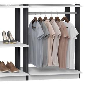 Closet 02 Cabideiros Clothes 9005 Branco Espresso Be Mobiliario