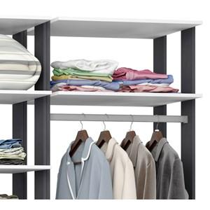 Closet 02 Cabideiros Clothes 9010 Branco Espresso Be Mobiliario