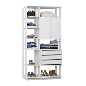 Closet 02 Portas Clothes 9006 Branco Be Mobiliario