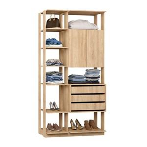 Closet 02 Portas Clothes 9006 Carvalho Mel Be Mobiliario