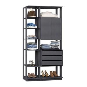 Closet 02 Portas Clothes 9006 Espresso Be Mobiliario