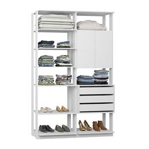 Closet 02 Portas Clothes 9011 Branco Be Mobiliario