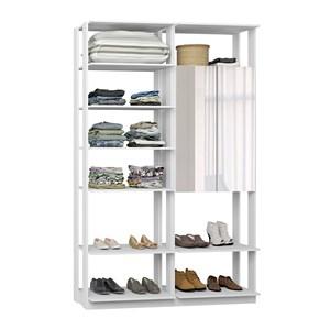 Closet 02 Portas Clothes 9012 Branco Com Espelho Be Mobiliario