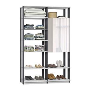 Closet 02 Portas Clothes 9012 Branco Espresso Com Espelho Be Mobiliario