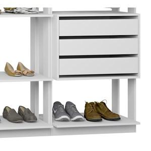 Closet 03 Gavetas Clothes 9008 Branco Be Mobiliario