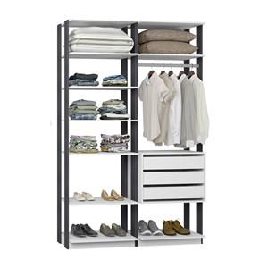 Closet 03 Gavetas Clothes 9008 Branco Espresso Be Mobiliario