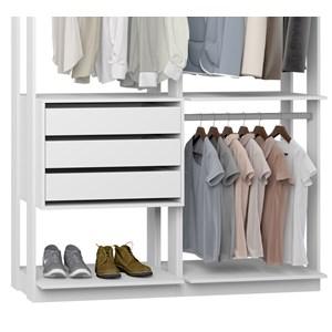 Closet 03 Gavetas Clothes 9013 Branco Be Mobiliario