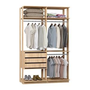 Closet 03 Gavetas Clothes 9013 Carvalho Mel Be Mobiliario