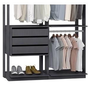 Closet 03 Gavetas Clothes 9013 Espresso Be Mobiliario