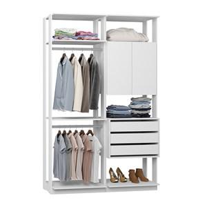 Closet 03 Gavetas Clothes 9014 Branco Be Mobiliario