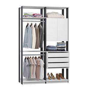 Closet 03 Gavetas Clothes 9014 Branco Espresso Be Mobiliario