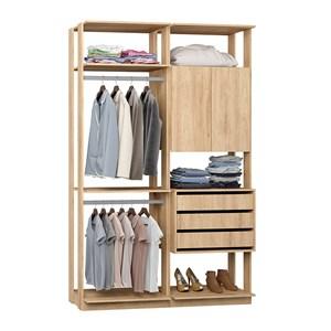 Closet 03 Gavetas Clothes 9014 Carvalho Mel Be Mobiliario