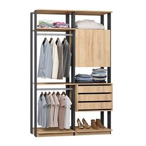 Closet 03 Gavetas Clothes 9014 Carvalho Mel Espresso Be Mobiliario