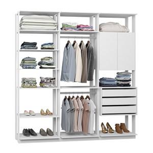 Closet 03 Gavetas E 02 Portas Clothes 9009 Branco Be Mobiliario