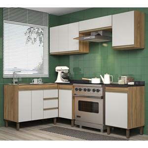 Composiçao Cozinha Karen 06 Modulos 7750 Nature Off White Peternella