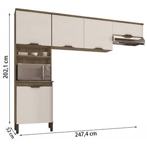 Composiçao Cozinha Milena 03 Peças Teka Champanhe INC Milani Store