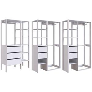Conjunto 2 Para Closet 03 Modulos DB001 DB002 Branco PP Milani Store