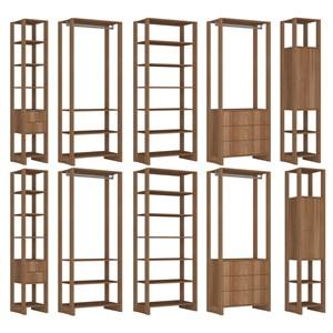 Conjunto Armarios Para Closet 10 Peças Yes EY101/2/3/6/7 Montana Nova Mobile