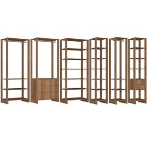 Conjunto Armarios Para Closet 6 Peças Yes EY101/2/3/4/5/6 Montana Nova Mobile
