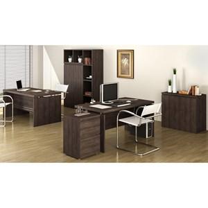 Conjunto Escritorio Completo 06 Peças Office 3 Carvalho Kappesberg