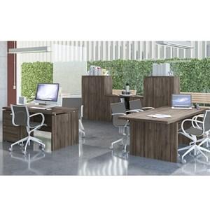 Conjunto Escritorio Completo 06 Peças Office 8 Carvalho Kappesberg