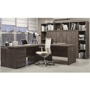 Conjunto Escritorio Completo 08 Peças Office 4 Carvalho Kappesberg