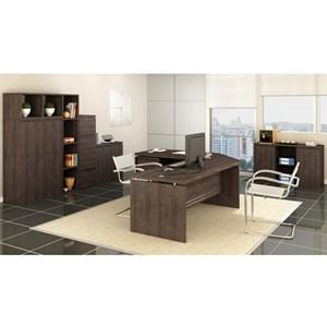 Conjunto Escritorio Completo 09 Peças Office 5 Carvalho Kappesberg