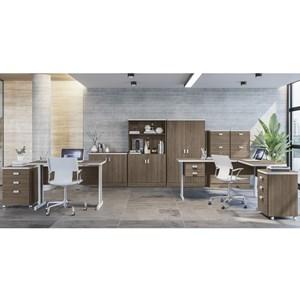 Conjunto Escritorio Completo 09 Peças Office Versatil 5 Teca Italia Kappesberg
