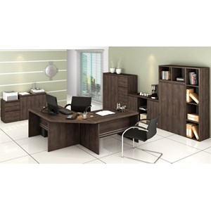 Conjunto Escritorio Completo 10 Peças Office 6 Carvalho Kappesberg