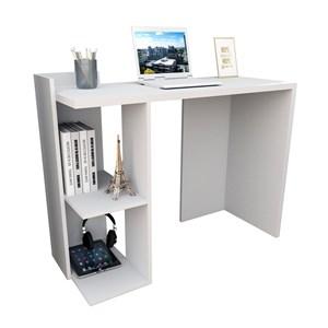 Conjunto Escrivaninha E Estante Sense Branco APT Milani Store