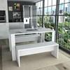 Conjunto Mesa de Jantar Com 02 Bancos Liv CON3600 Branco APT Milani Store