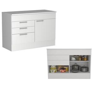 Cozinha Compacta 04 Portas Marajó CJ03 Branco Nova Mobile