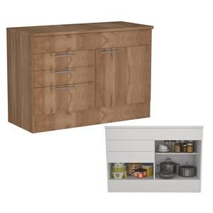 Cozinha Compacta 04 Portas Marajó CJ03 Montana Nova Mobile