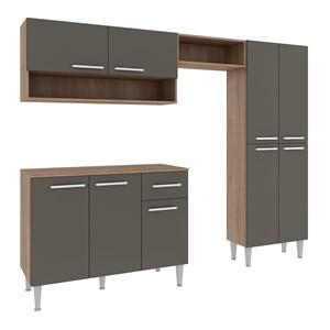Cozinha Compacta 09 Portas Madri CM29P Teka Grafite Fellicci Moveis