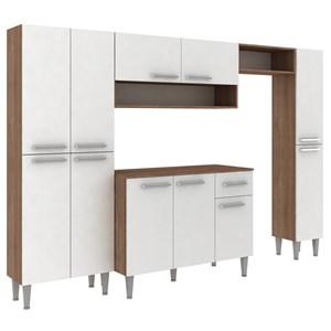 Cozinha Compacta 11 Portas Madri CM11P Teka Branco Fellicci Moveis
