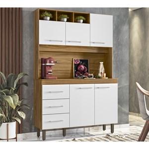 Cozinha Compacta 120cm 5 Portas Milao Nature Off White Peternella