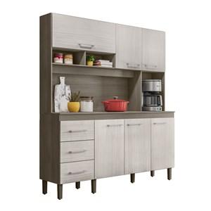Cozinha Compacta 160cm 6 Portas Monaco Malbec Avela Peternella