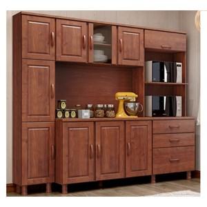 Cozinha Compacta 3 Peças Madeira Maciça Bronze Imbuia FNT Milani Store