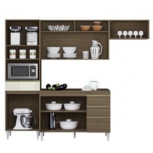 Cozinha Compacta Balcao Com Tampo Clara Ambar Off White ARM Milani Store