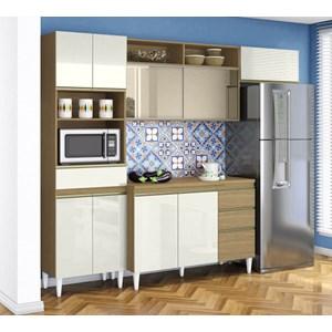 Cozinha Compacta Balcao Com Tampo Clara Atacama Off White ARM Milani Store