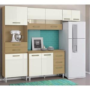 Cozinha Compacta Balcao Com Tampo Larissa Atacama Off White ARM Milani Store
