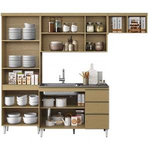 Cozinha Compacta Balcao Com Tampo Sophia Atacama Off White ARM Milani Store