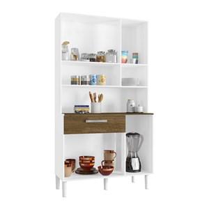 Cozinha Compacta Cancun 06 Portas Branco Malbec INC Milani Store