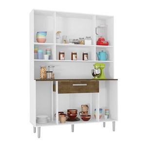Cozinha Compacta Cancun 08 Portas Branco Malbec INC Milani Store