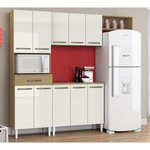 Cozinha Compacta Com Balcao Isadora Atacama Off White ARM Milani Store