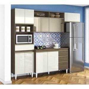 Cozinha Compacta Com Balcao Para Pia Clara Ambar Off White ARM Milani Store