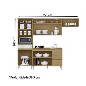 Cozinha Compacta Com Balcao Para Pia Clara Atacama Preto ARM Milani Store