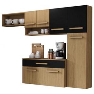 Cozinha Compacta Com Balcao Rubi Atacama Preto ARM Milani Store